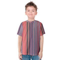 Triangles and stripes pattern Kid s Cotton Tee