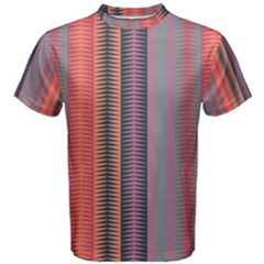 Triangles and stripes pattern Men s Cotton Tee