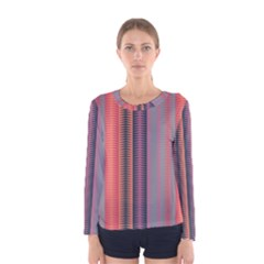 Triangles and stripes pattern Women Long Sleeve T-shirt