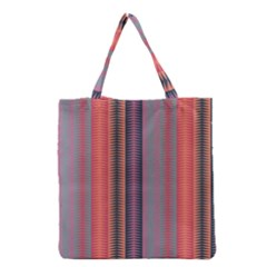 Triangles and stripes pattern Grocery Tote Bag