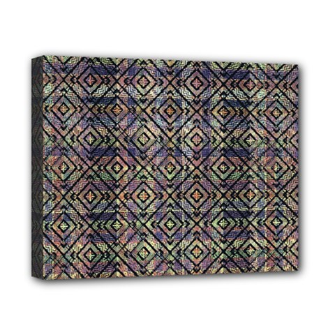 Multicolored Ethnic Check Seamless Pattern Canvas 10  X 8