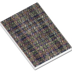 Multicolored Ethnic Check Seamless Pattern Large Memo Pads