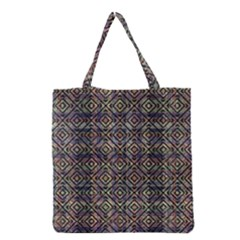 Multicolored Ethnic Check Seamless Pattern Grocery Tote Bags