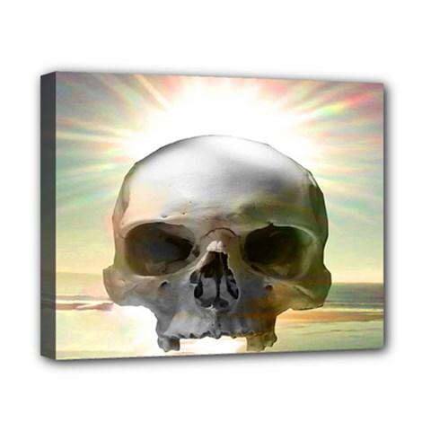 Skull Sunset Canvas 10  X 8