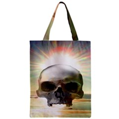 Skull Sunset Classic Tote Bags