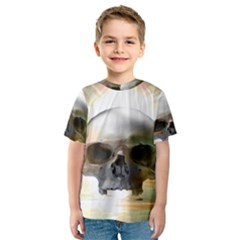 Skull Sunset Kid s Sport Mesh Tees