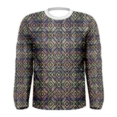 Ethnic Check Printed Men s Long Sleeve T-shirts
