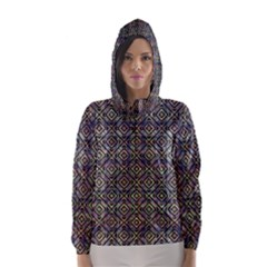 Ethnic Check Printed Hooded Wind Breaker (Women)