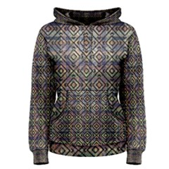 Ethnic Check Printed Women s Pullover Hoodies