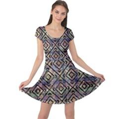 Modern Geometric Cap Sleeve Dress