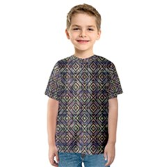 Ethnic Check Printed Kid s Sport Mesh Tees