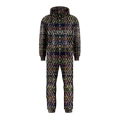 Ethnic Check Printed Hooded Jumpsuit (kids)