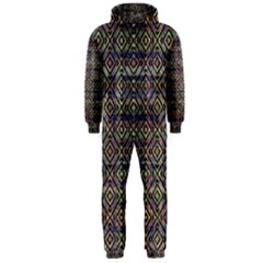 Ethnic Check Printed Hooded Jumpsuit (Men)