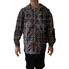 Ethnic Check Printed Hooded Wind Breaker (Kids)
