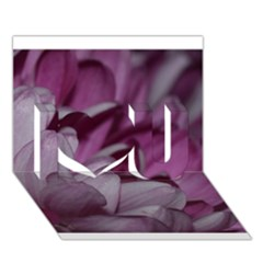 Purple! I Love You 3d Greeting Card (7x5)