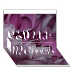 Purple! YOU ARE INVITED 3D Greeting Card (7x5)