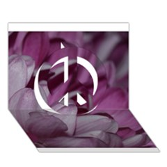 Purple! Peace Sign 3d Greeting Card (7x5)