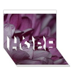 Purple! HOPE 3D Greeting Card (7x5)