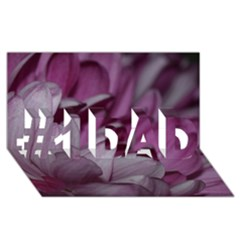 Purple! #1 Dad 3d Greeting Card (8x4)