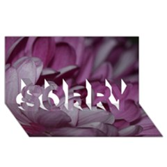 Purple! Sorry 3d Greeting Card (8x4)