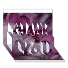 Purple! THANK YOU 3D Greeting Card (7x5)