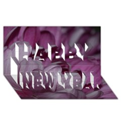 Purple! Happy New Year 3D Greeting Card (8x4)