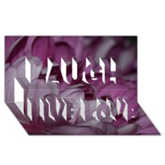 Purple! Laugh Live Love 3D Greeting Card (8x4)
