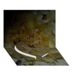 Yellow Flower Heart Bottom 3D Greeting Card (7x5)