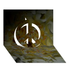Yellow Flower Peace Sign 3D Greeting Card (7x5)
