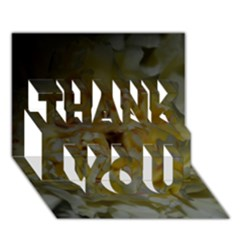 Yellow Flower THANK YOU 3D Greeting Card (7x5)