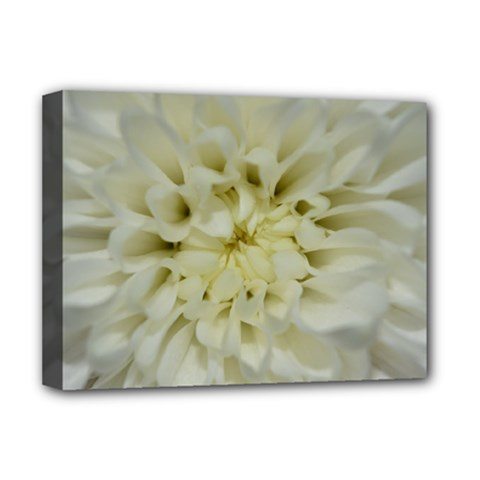 White Flowers Deluxe Canvas 16  x 12