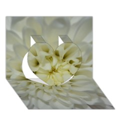 White Flowers Heart 3D Greeting Card (7x5)