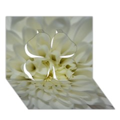 White Flowers Clover 3D Greeting Card (7x5)