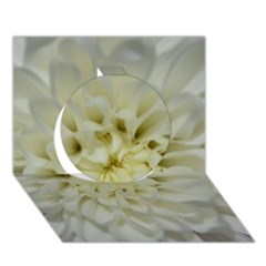 White Flowers Circle 3d Greeting Card (7x5)