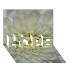 White Flowers HOPE 3D Greeting Card (7x5)