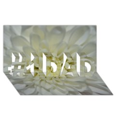 White Flowers #1 Dad 3d Greeting Card (8x4)