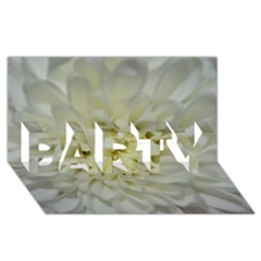 White Flowers PARTY 3D Greeting Card (8x4)