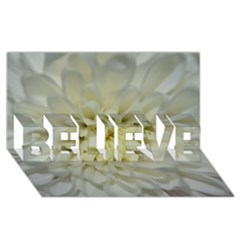 White Flowers BELIEVE 3D Greeting Card (8x4)