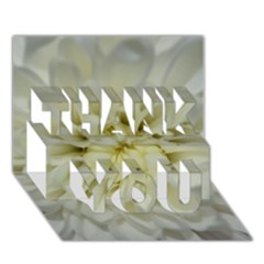 White Flowers THANK YOU 3D Greeting Card (7x5)