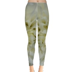 White Flowers Women s Leggings