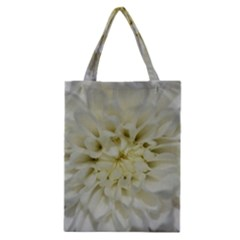 White Flowers Classic Tote Bags