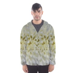 White Flowers Hooded Wind Breaker (Men)