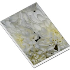 White Flowers 2 Large Memo Pads