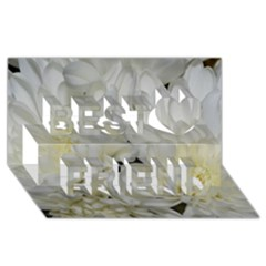 White Flowers 2 Best Friends 3D Greeting Card (8x4)