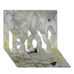 White Flowers 2 BOY 3D Greeting Card (7x5)