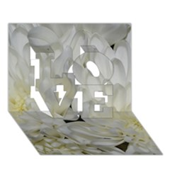 White Flowers 2 Love 3d Greeting Card (7x5)