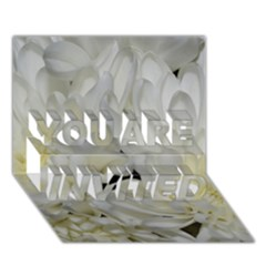 White Flowers 2 YOU ARE INVITED 3D Greeting Card (7x5)