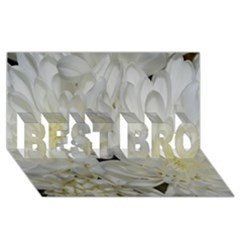 White Flowers 2 BEST BRO 3D Greeting Card (8x4)