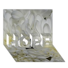 White Flowers 2 HOPE 3D Greeting Card (7x5)