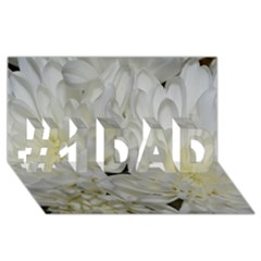 White Flowers 2 #1 Dad 3d Greeting Card (8x4)